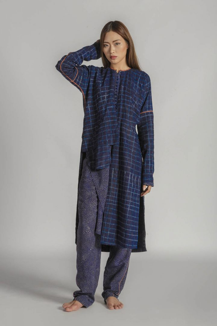 This is a Batik Double Tunic Dress by Kilomet 109 - Phieu Collection 2017